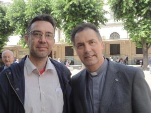 Torino 24 maggio 2014. Rettor Maggiore con Romano Borrelli. Foto Romano Borrelli