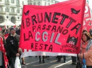 marcia-lavoro-crisi-7-brunetta-cgil