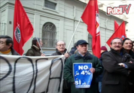 Protesta contro sbarramento legge elettorale, 29 Gennaio 2009 Torino