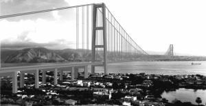 Modello del ponte sullo Stretto di Messina: fonte il Quotidiano della Calabria