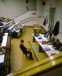 Vincent Verdese in seduta di laurea