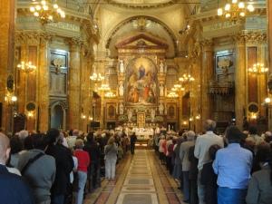 Basilica Maria Ausiliatrice. Messa presieduta da Arcivescovo Nosiglia. Torino 24 maggio 2014. Foto Romano Borrelli