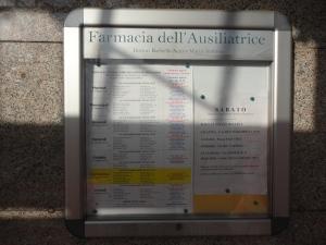 Foto Insegna Farmacia Dell'Ausiliatrice. Torino. Foto Romano B.