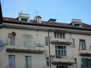 Interno di una casa condominiale, Torino