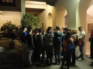 Torino 23 maggio 2014. Ore 23 circa. Ragazze e ragazzi nel cortile Basilica Maria Ausiliatrice.