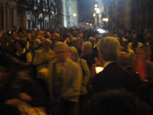 Torino 24 maggio 2014.  0re 22.30 circa.