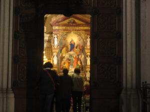 Torino. 24 maggio 2014. Basilica di Maria Ausiliatrice aperta con funzioni quasi ad ogni ora.