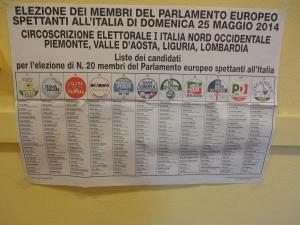 Torino 25 maggio 2014. Davanti ai seggi. Prima delle elezioni.