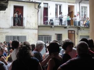Domenica 22 giugno 2014. Ore 17. via dei Mercanti. Concerto dal balconcino. Foto, Romano Borrelli