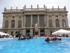 Torino 1 giugno 2014. Piazza Castello. Foto, Romano Borrelli