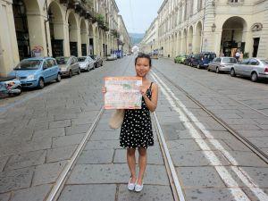 Torino 24-6-2014. Via Po-Turista-Mole-piazza Vittorio. Foto, R-Borrelli