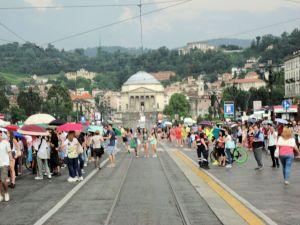 Torino 24-6-204-Piazza Vittorio-partita dell'Italia-Foto, Romano Borrelli