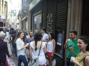 Torino. Via dei Mercanti. La festa dei vicini. Foto, Romano Borrelli