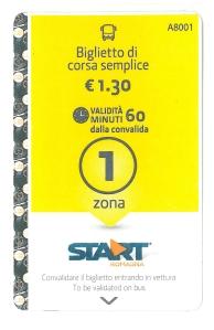 Biglietto Ravenna. Foto, Romano Borrelli