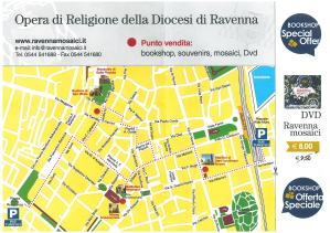 cartina, biglietto Ravenna circuito opere
