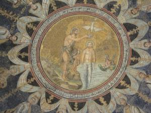 Ravenna, 20 luglio 2014. Il Battistero. Foto, Romano Borrelli.