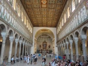 Ravenna, 20 luglio 2014. Sant' Apollinare Nuovo. Interno. Foto, Romano Borrelli
