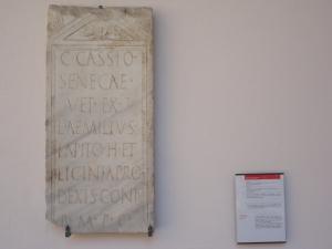 Ravenna. Strele di  defunto Caio Cassio Seneca, in vita centurione già congedato. Foto, Romano Borrelli