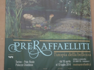 Torino 12 luglio 2014. Ultime ore per i Pre Raffaelliti