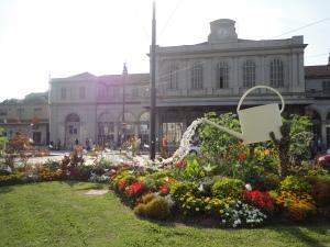 Torino  venerdì 18 luglio 2014. Stazione Porta Susa, vecchia. Giardino stazione. Foto, Romano Borrelli