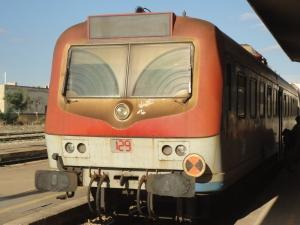 Gallipoli, 7 agosto 2014. Stazione Sud-Est, il trenino. Foto, Romano Borrelli