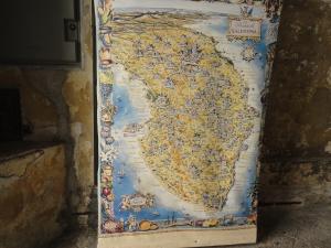 La cartina del Salento. Foto, Romano Borrelli