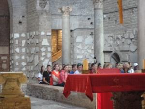 Roma, 27 agosto 2014. Catacombe di Domitilla. Foto, Romano Borrelli