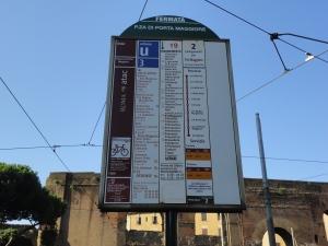 Roma 27 agosto 2014. Fermata tram. Porta Maggiore. Foto, Romano Borrelli