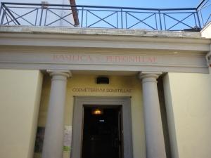 Roma. 27 agosto 2014. Le Catacombe di Domitilla. Foto, Romano Borrelli.