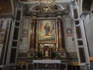 Roma, Salesiani via Marsala. Altare di Via Maria Ausiliatrice. Foto, Romano Borrelli
