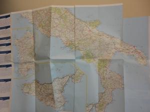 Cartina geografica. L'Italia. Foto, Romano Borrelli