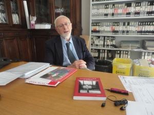 Dottor Corrado Borsa, ANCR, intervistato presso i locali dell'ANCR, foto, Romano Borrelli (1)