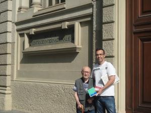 Torino, 14 settembre 2014. Pensiero Acutis e Romano davanti la Sei.Foto, Borrelli Romano