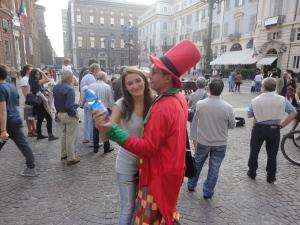 Torino, 27 settembre 2014. In centro, un ballo in piazza. Foto, Romano Borrelli