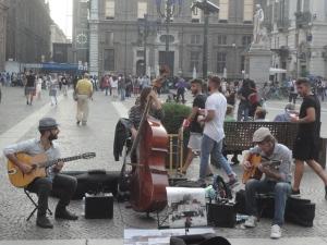 Torino 27 settembre 2014. Orchestrina in piazza. Foto, Romano Borrelli