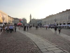 Torino 27 settembre 2014. Piazza San Carlo. Foto, Romano Borrelli.