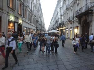 Torino 18 ottobre 2014. Via Garibaldi. Foto, Romano Borrelli