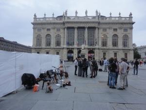 Torino, 4 ottobre 2014. Piazza Castello.Foto, Romano Borrelli