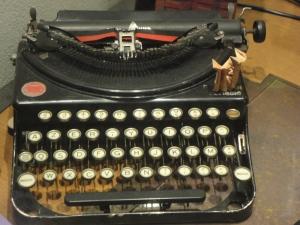 Macchina da scrivere. Foto, Romano Borrelli