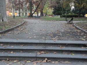 Torino 21 novembre 2014. Giardini del centro. foto, Romano Borrelli