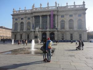 Torino 22 novembre 2014. Piazza Castello. Foto, Romano Borrelli