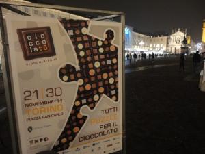 Torino 25 novembre 2014. Piazza San Carlo, CioccolaTo'. Foto, Romano Borrelli