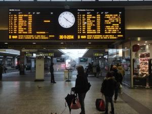 Torino, 30 novembre 2014, atrio stazione Torino Porta Nuova. Foto, Romano Borrelli