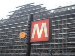 Torino 30 novembre 2014, fermata Metropolitana e facciata stazione di Torino Porta Nuova. Foto, Romano Borrelli