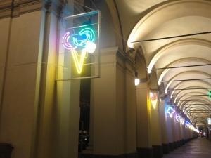 Torino, 5 novembre 2014. Piazza Statuto. Luci d'Artista. Foto, Romano Borrelli