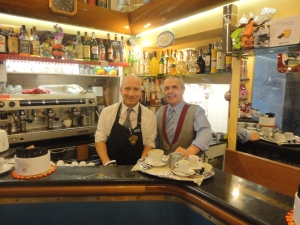 Torino, 6 novembre 2014. Bar Casa del caffè, Giancarlo e Gaetano, foto, Romano Borrelli