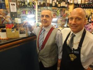 Torino, 6 novembre 2014. Giancarlo e Gaetano, presso bar, Casa del caffè. Foto, Romano Borrelli