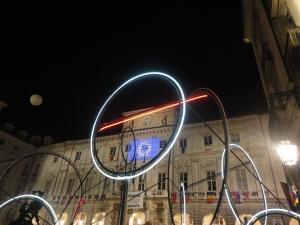 Torino. Il Municipio. Luci d'Artista. Foto, Romano Borrelli