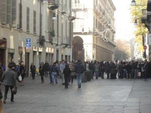 Torino, via Garibaldi, 22 novembre 2014. Oreal. Foto, Romano Borrelli