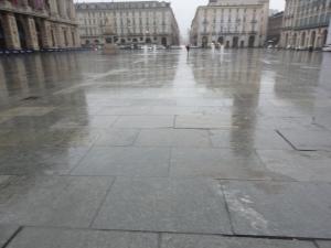 Torino 1 dicembre 2014, piazza Castello sotto la pioggia. Foto, Borrelli Romano